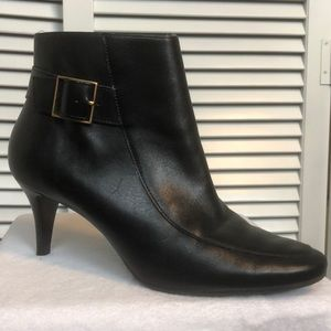 Talbots Black Leather Heeled Ankle Boots -Sz 8.5